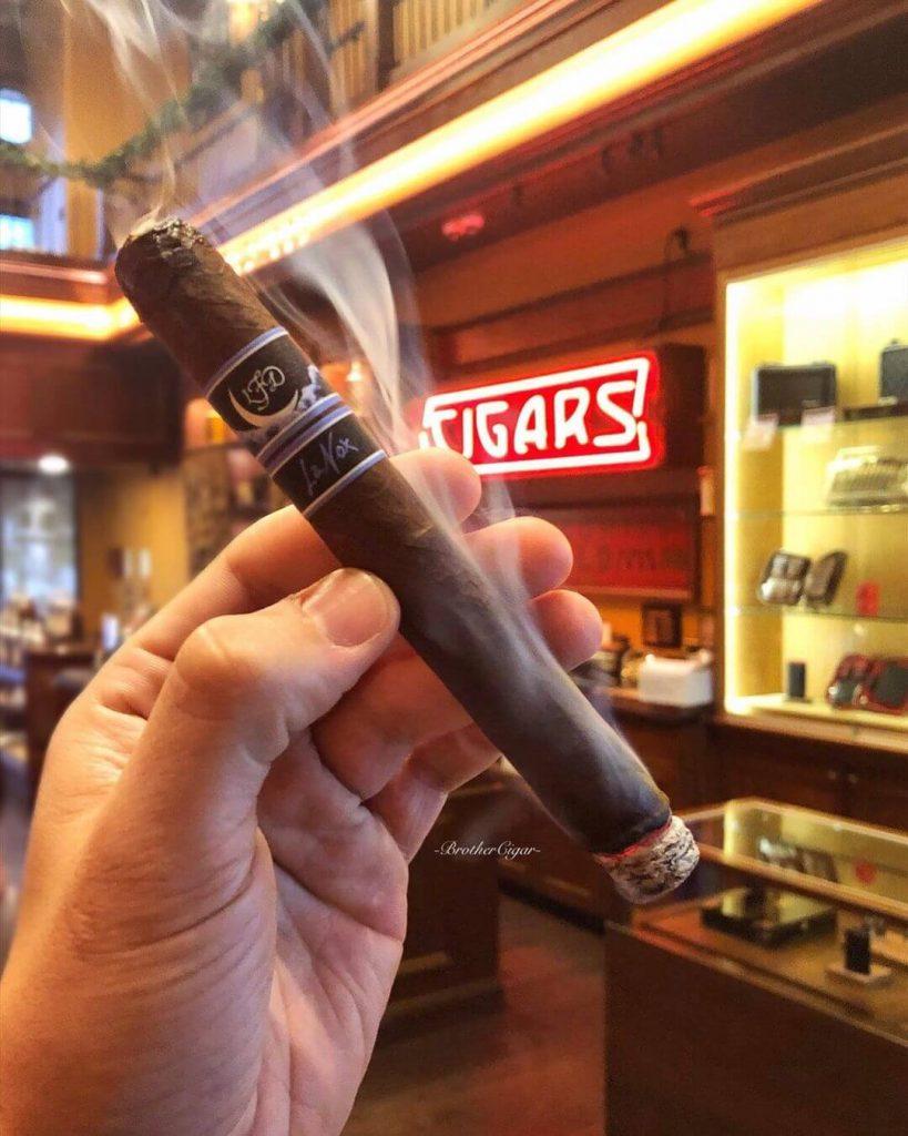 Smoking a Cigar Inside